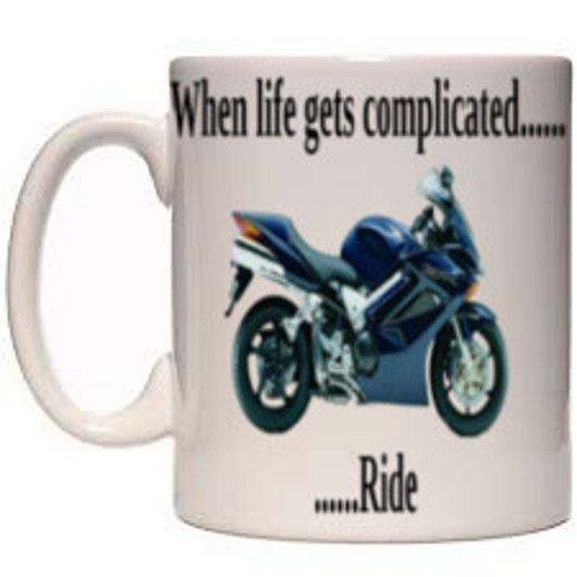 Motorcycle 11oz Printed Mug