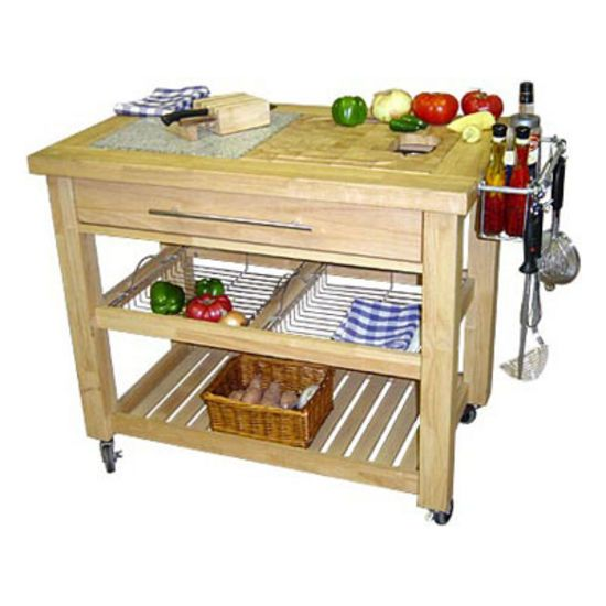 Chris & Chris Food Prep Kitchen Island Natural Finish. #kitchensource #pinterest #followerfind