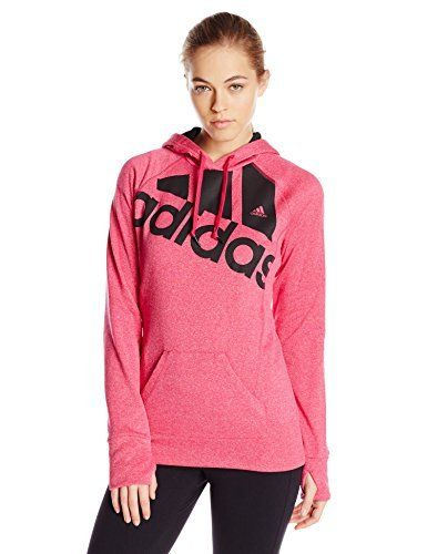 online store 5ffc7 eb159 adidas Performance Womens Go-To Fleece Pullover Hoodie, and the dark  greypurple is THE only way to go haha!
