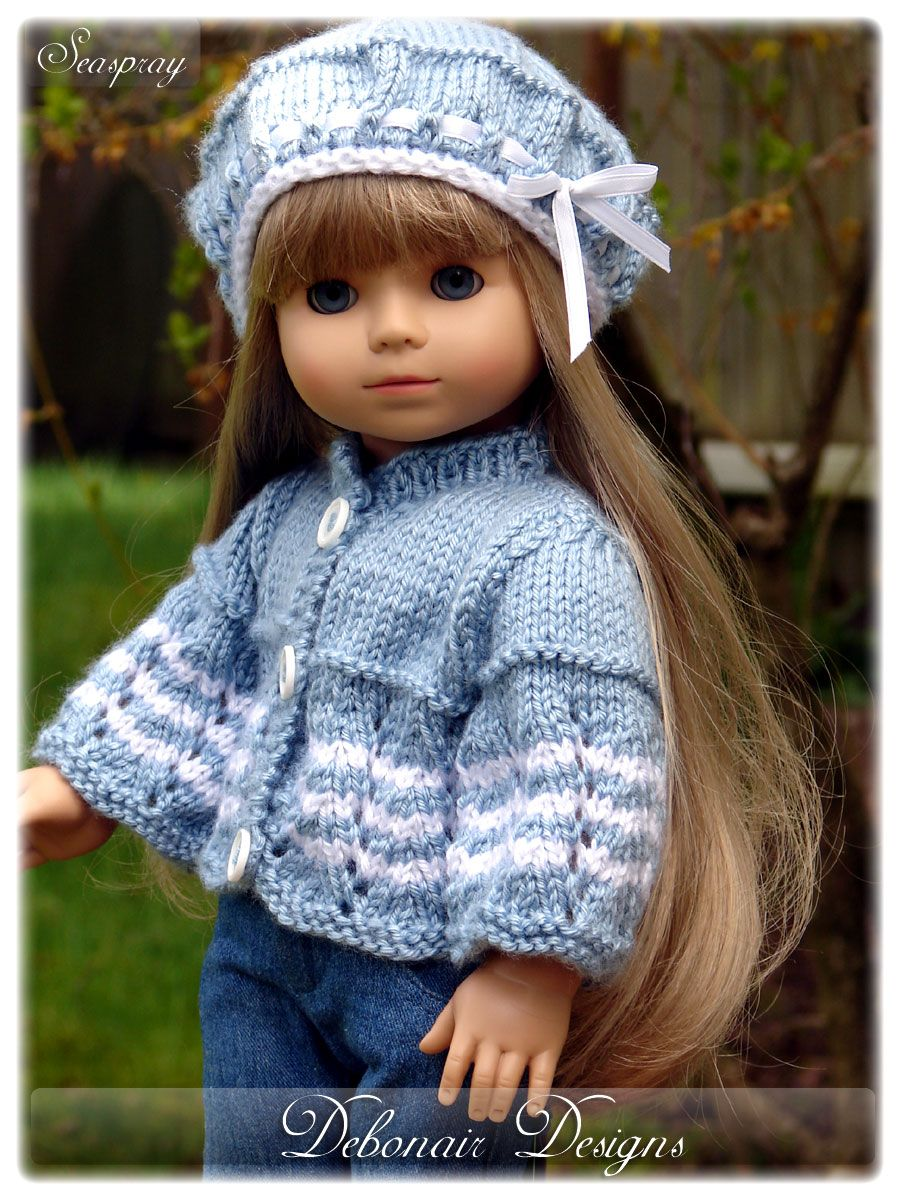 Debonair Designs specializes in Hand Knitted Doll Clothes & Knitting ...