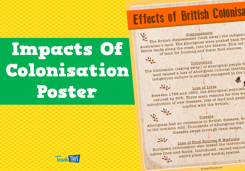 Impacts Of Colonisation Poster | HASS | Pinterest | Curriculum ...