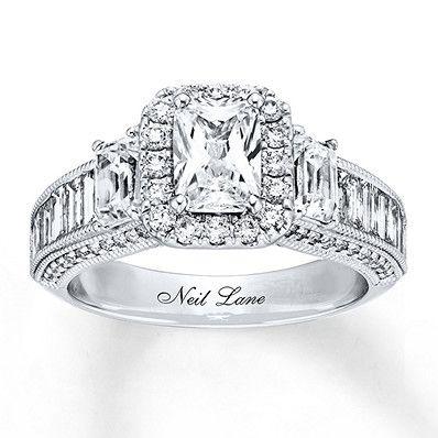1dc20f5e6e8fc Neil Lane Engagement Ring 2-7/8 ct tw Diamonds 14K White Gold in ...
