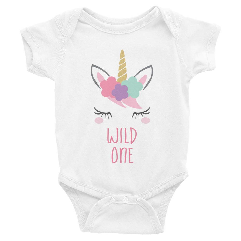 Wild One First Birthday Girl Outfit Unicorn 1st T Shirt Year Old Gift Party