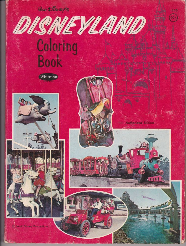 Disneyland Coloring Book With Photo Covers