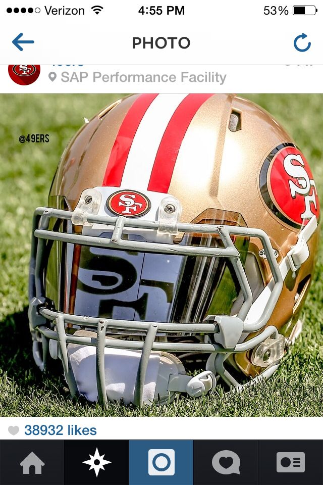49ers Helmet with SF Visor  17fef969a