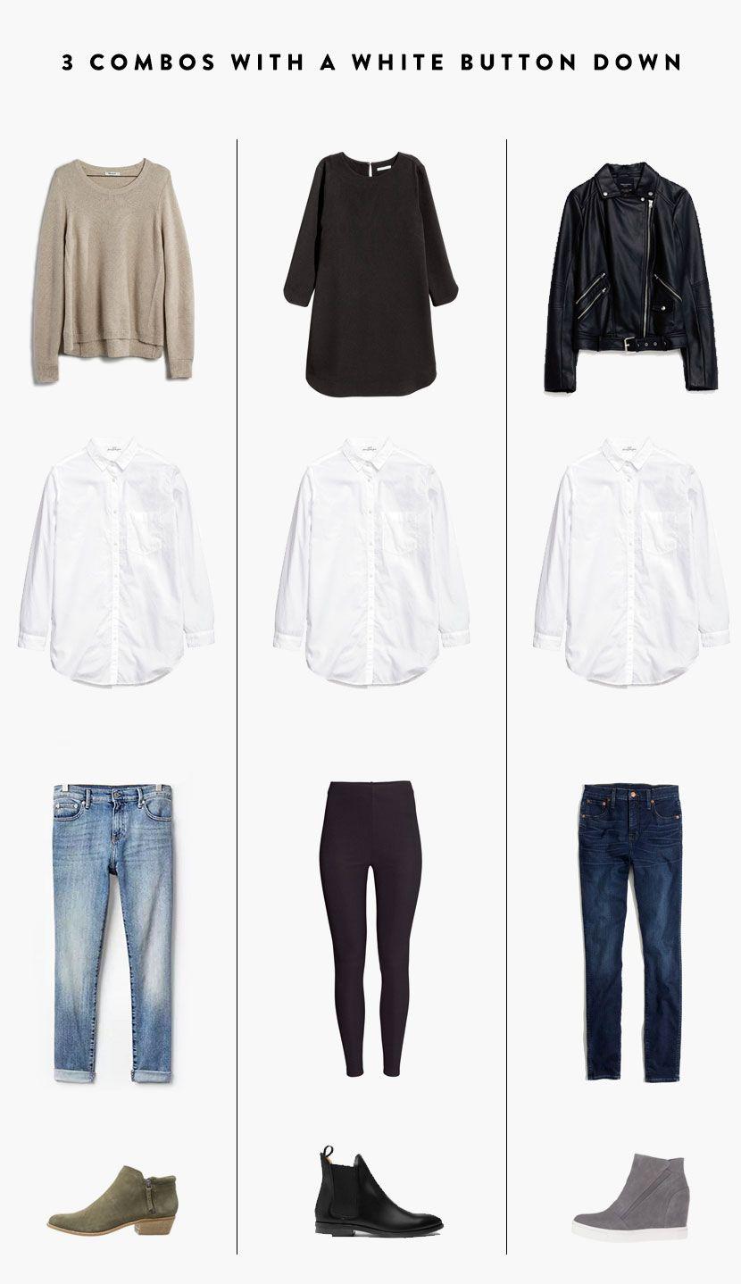 20 Ways to Wear a White Button Down Shirt   The Fresh Exchange ...
