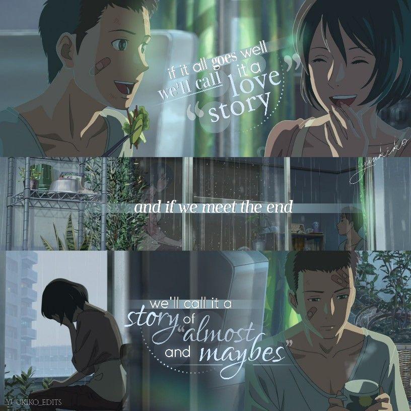 Garden of words anime quotes animeedit in 2020 Garden