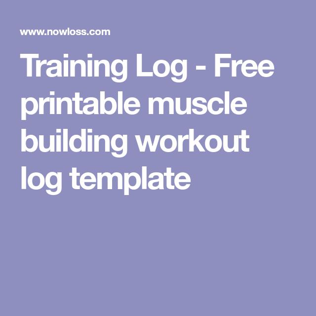 workout training log template