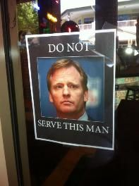 Sign at Vilma's restaurant says not to serve Goodell