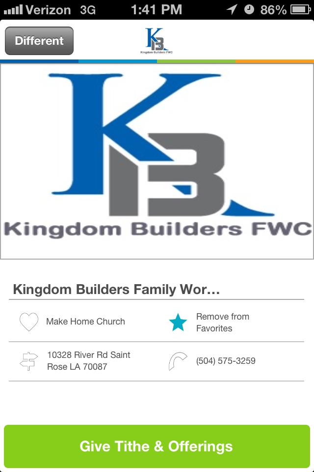 Kingdom Builders Family Worship Center in Saint Rose, LA