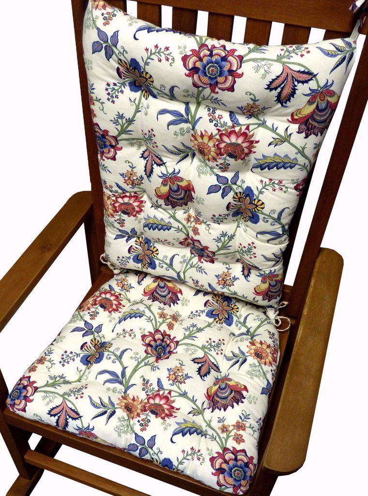 outdoor rocking chair cushions sale. jacobean gem red colonial floral rocking chair cushions - latex foam fill, reversible outdoor sale