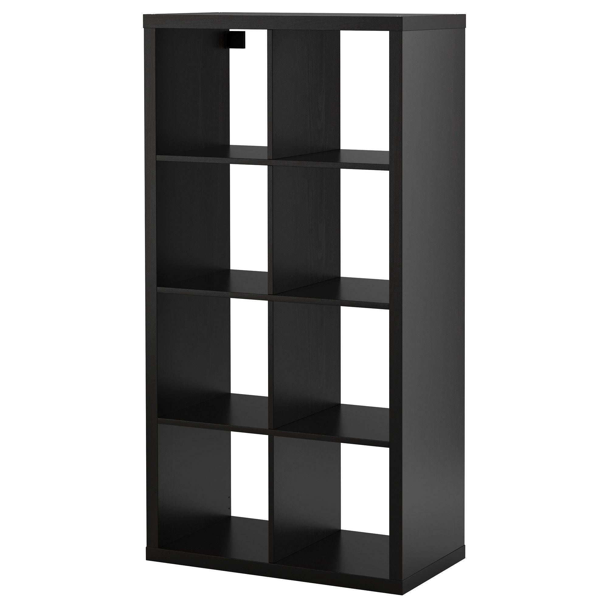 Kallax Shelf Unit Black Brown 30 3 8x57 7 8 Ikea Shelving