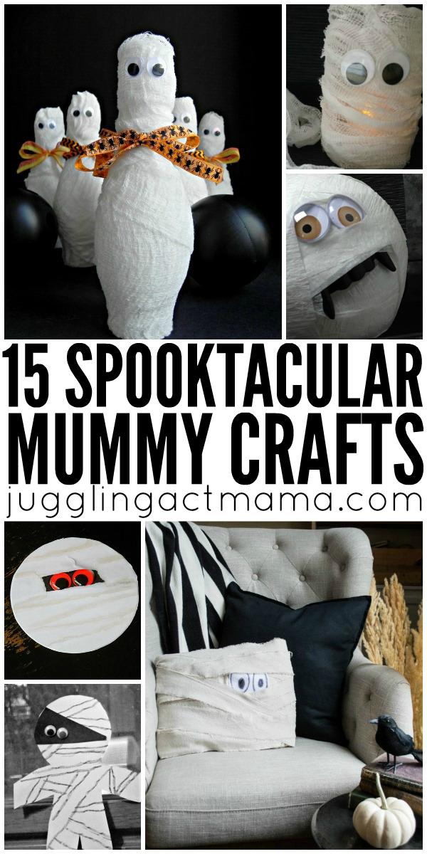 15 Spooktacular Mummy Crafts Mummy crafts, Fun halloween