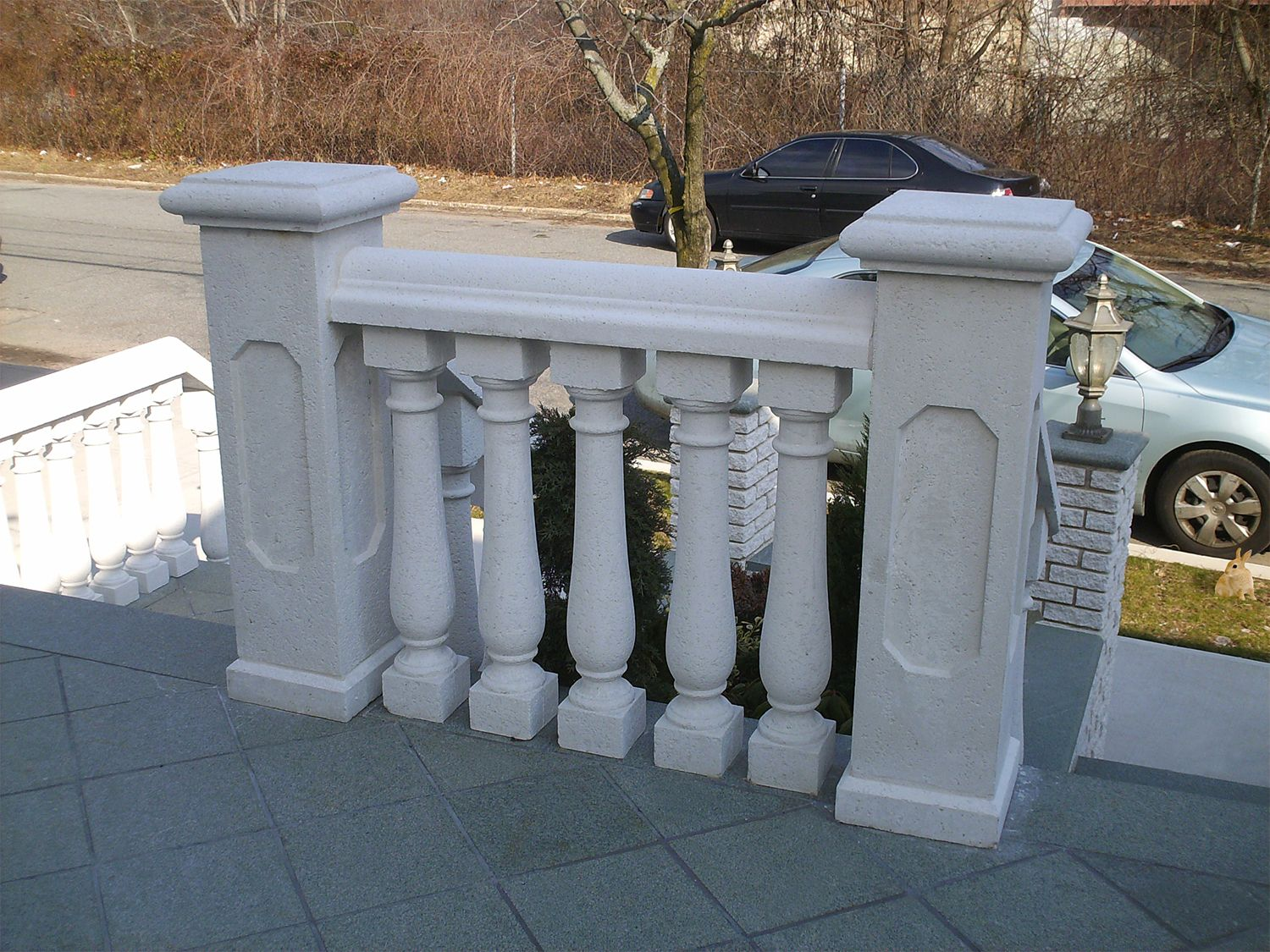 Concrete Handrail For Front Porch Complete Balustrade