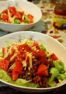 Taco-rice. The kids love this