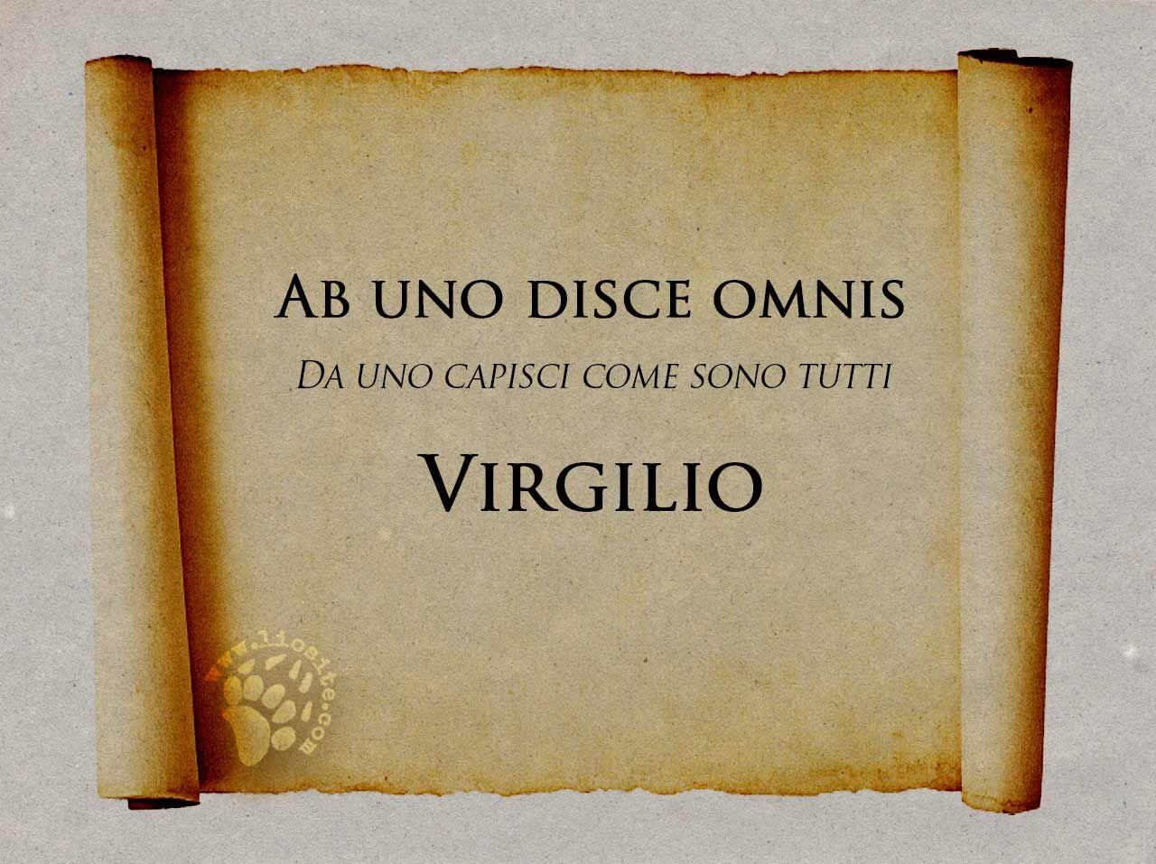 Virgilio Ab Uno Disce Citazioni Latine Frasi Di Latino