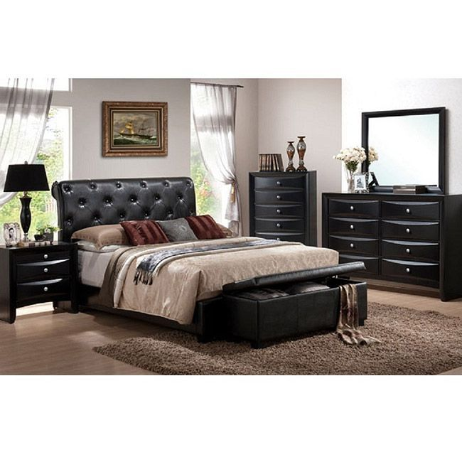 Revamp the look of any bedroom with this five piece Vegas bedroom