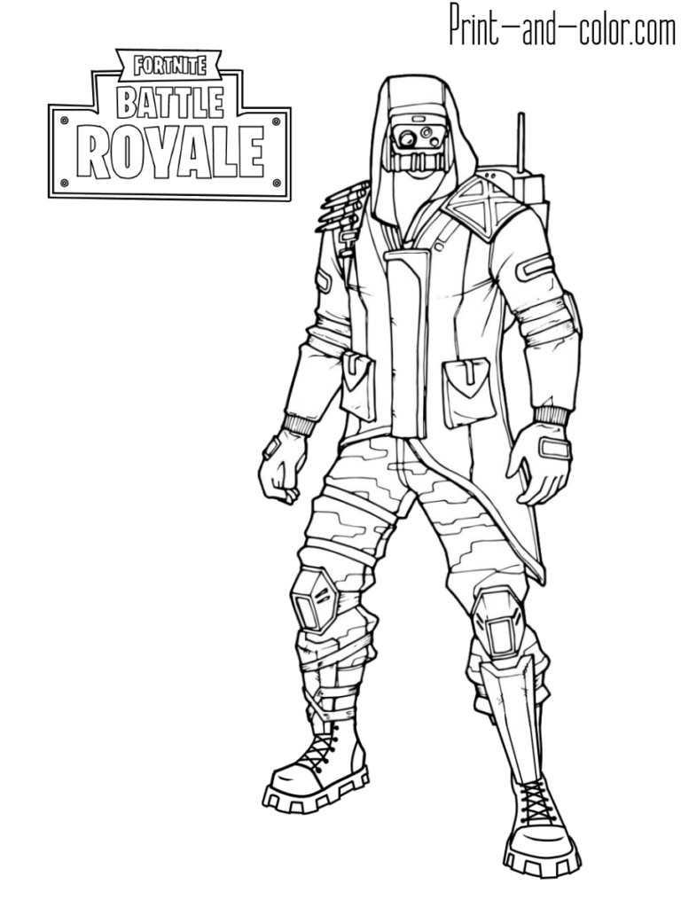 Fortnite Coloring Pages Malovani Cernobily