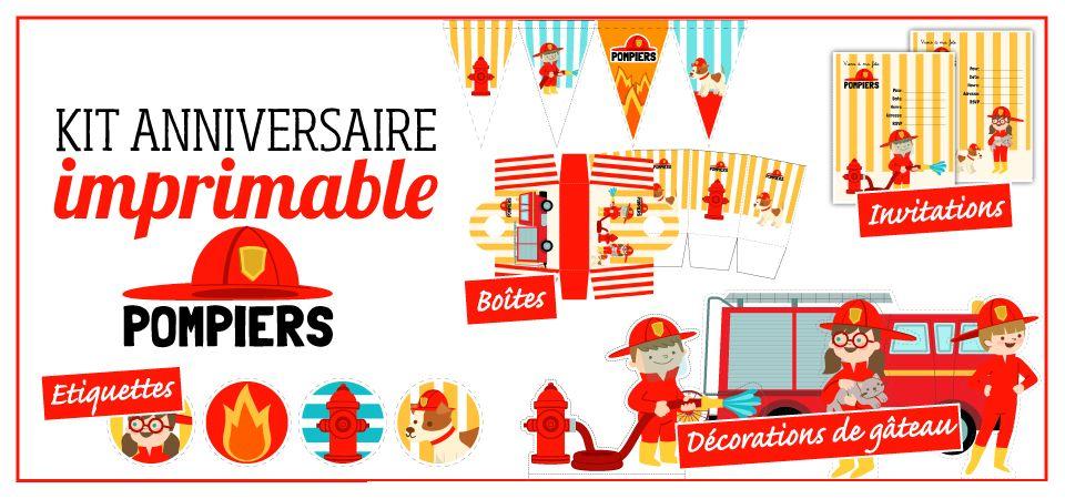Célèbre Kit anniversaire Pompier | Anniversaire | Pinterest | Pompiers  JB55