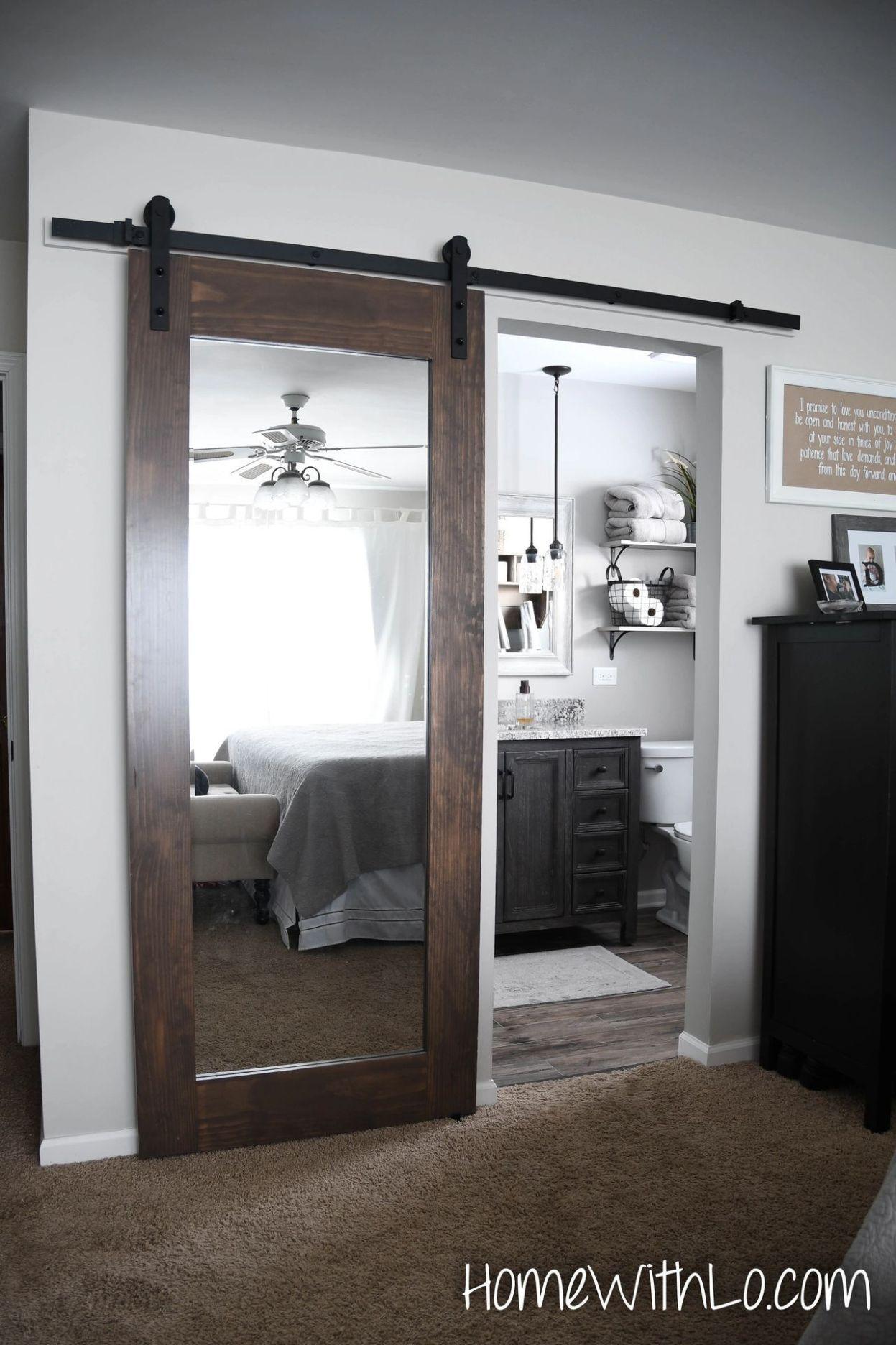 Perfect Barn Door Mirror 1 In 2020 Sliding Mirror Closet Doors Sliding Bathroom Doors Sliding Doors Interior