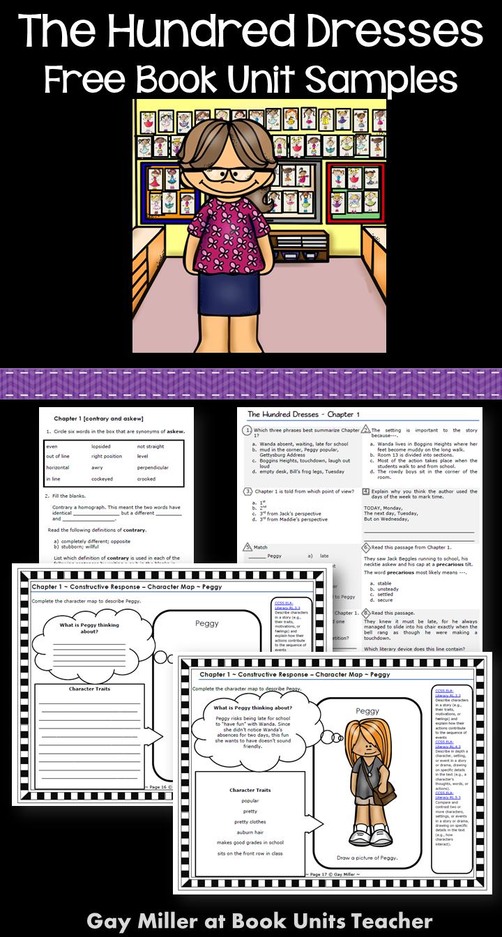 worksheet The Hundred Dresses Worksheets dress design writing project for the hundred dresses books book units teacher