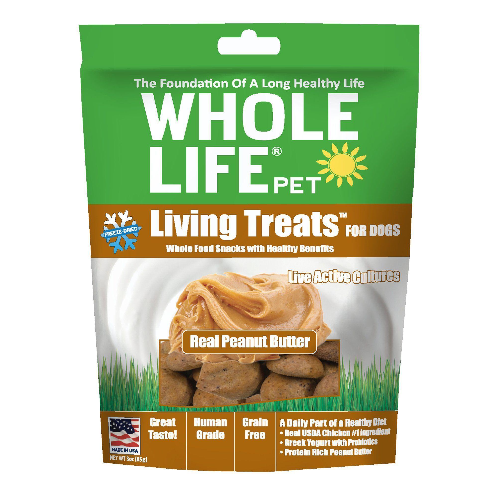 Whole Life Pet Living Treats USA Freeze Dried Peanut