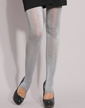 91fdedca0d3f8 silver footless opaque tights - Google Search | costume ideas ...