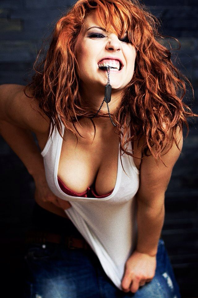 Beautiful tanned redhead