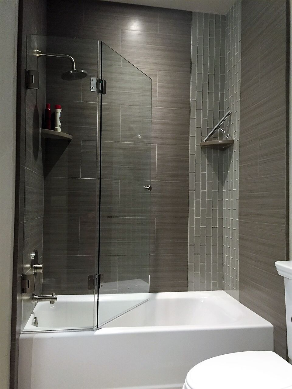 his has become a new addition to custom shower options for tubs. It ...