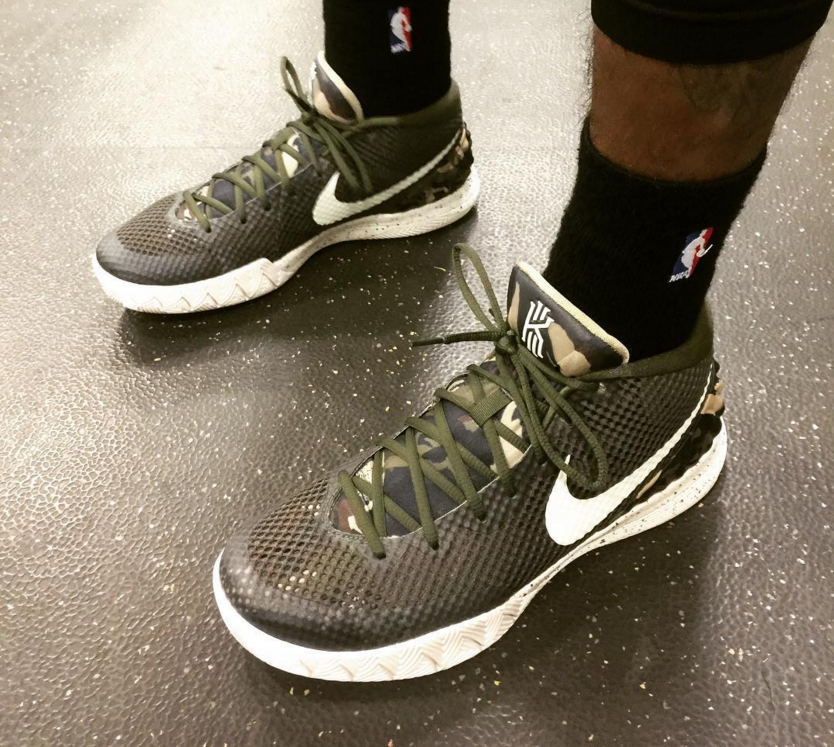 Kyrie Irving honors the military with an exclusive look at a new camouflage Nike  Kyrie 1 colorway.