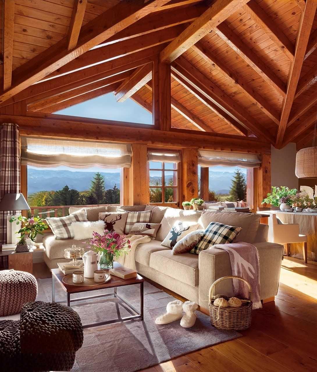 Casas de madera por dentro decoracion planos translation - Casas de campo por dentro ...