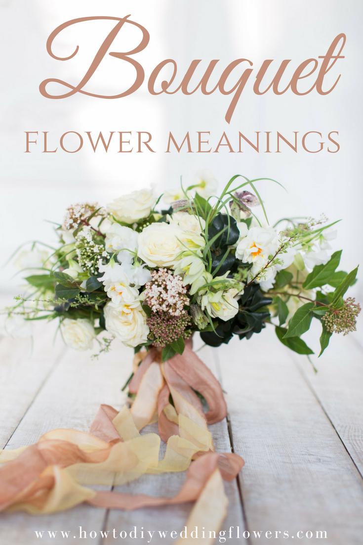 Flower meanings bouquet breakdown pinterest wedding wedding bouquet flower wedding trends diy flower meanings want the flowers in your bouquet to izmirmasajfo