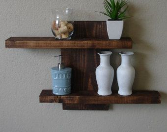 Rustic Modern 3 Tier Floating Shelf