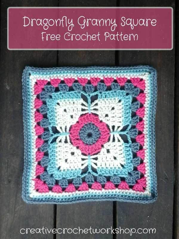 Dragonfly Granny Square | Pinterest | Granny squares, Free crochet ...