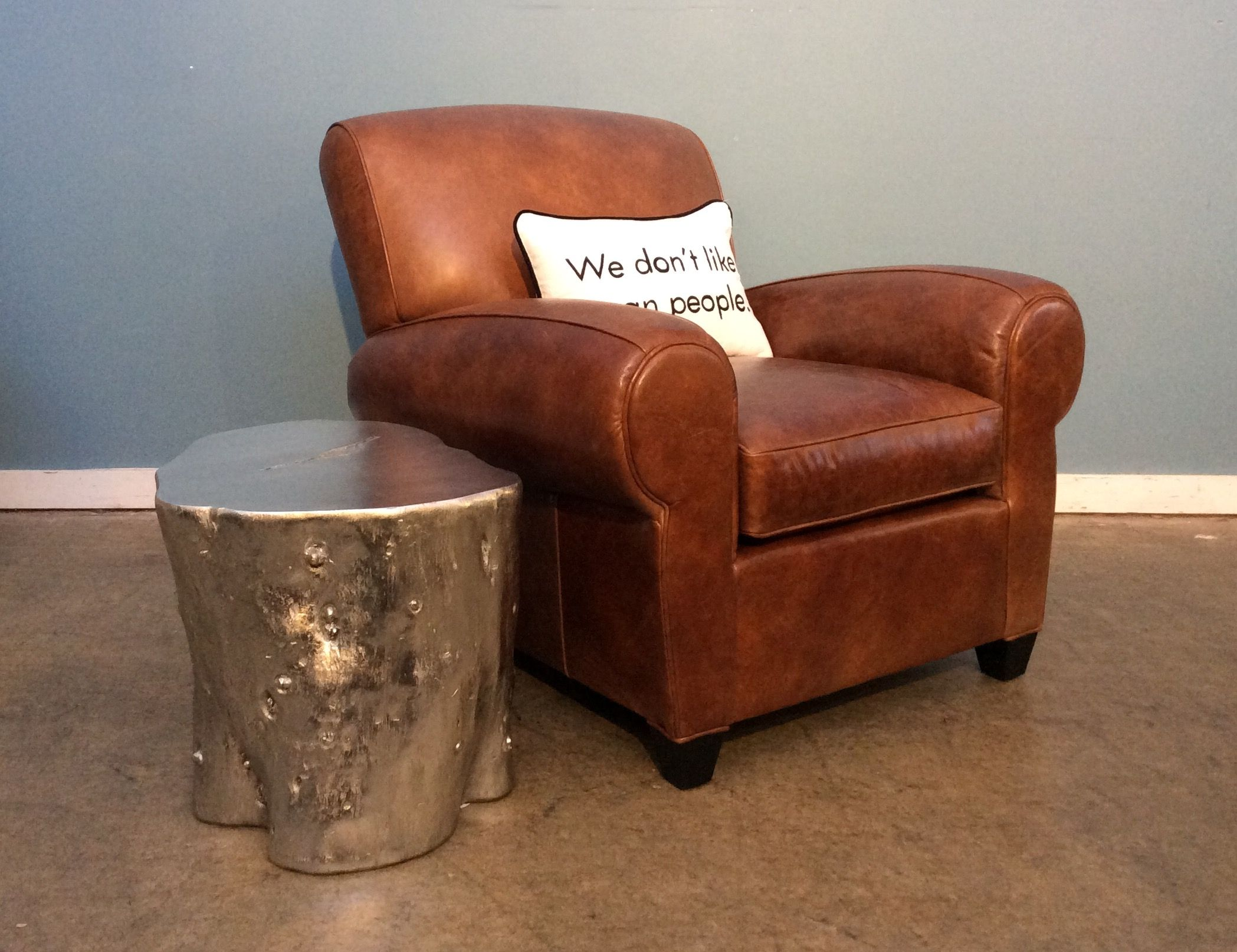 Philippe Leather Chair In Penland Tobacco