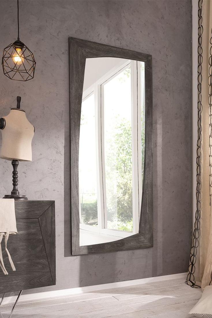 Spiegel Akazie Platin Designer Wandspiegel Gross Modern Ausgefallen Design Grau Aufhangbar Industrial Einrichtungstipps Flur