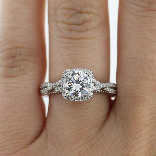 Verragio Parisian Halo engagement ring