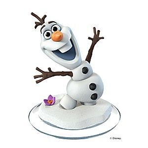 Olaf Figure - Disney Infinity: Disney Originals (3.0 Edition)   Disney Store Enchanted snow companion outmaneuvers all obstacles with cool moves. Add a warm smile to your own Disney Originals adventures with <i>Frozen</i>'s lovable snowman. A Disney Infinity game figure.