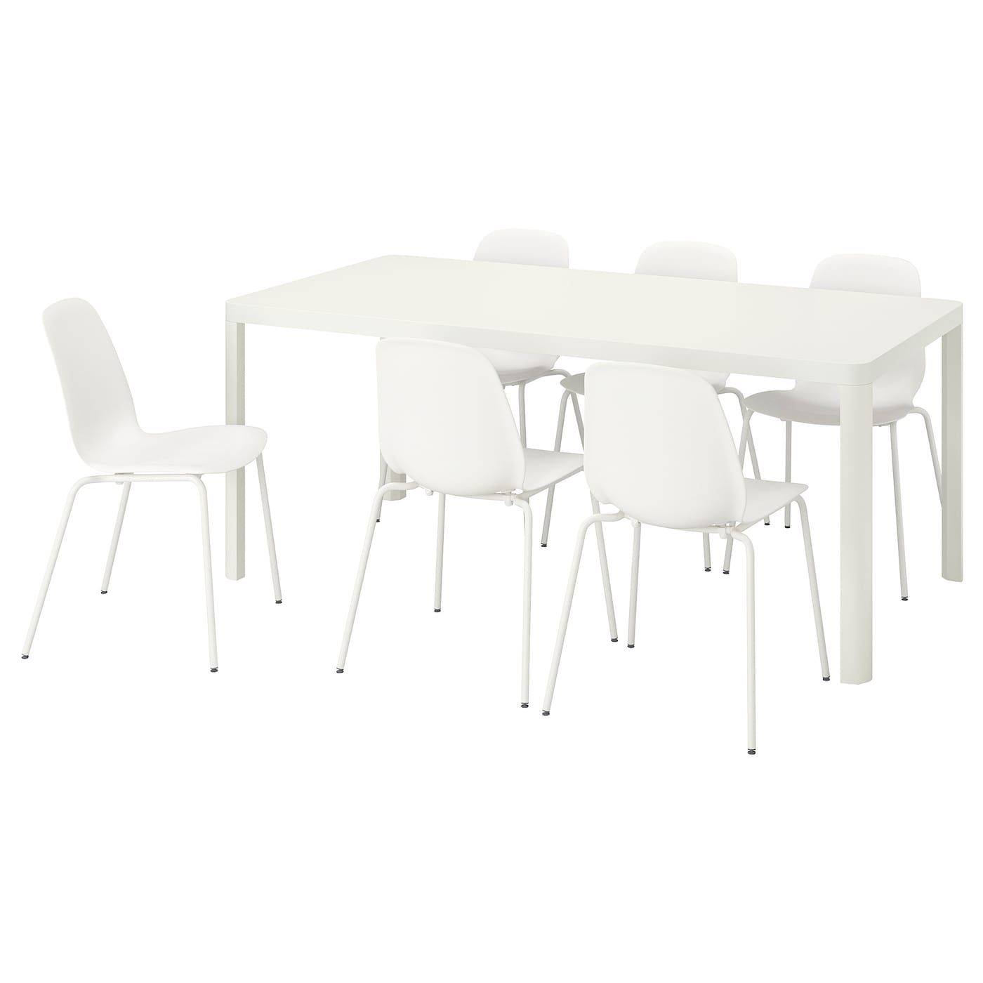 Ikea Tingby Leifarne White White Table And 6 Chairs Table