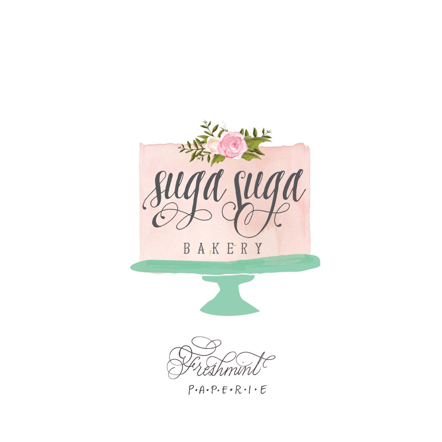 Cake Company Logo Design : cake company watercolour logo - Google Search ...