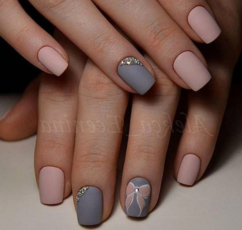 58 Best Stunning Grey Short Nails 💅 Design (acrylic Nails