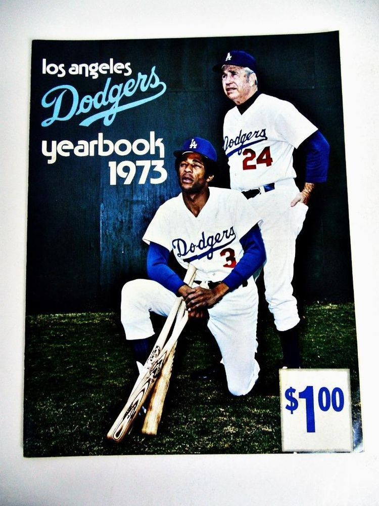 1973 Los Angeles Dodgers Yearbook Baseball Alston Tommy John Garvey Cey Sutton Dodgers Los Angeles Dodgers Tommy John