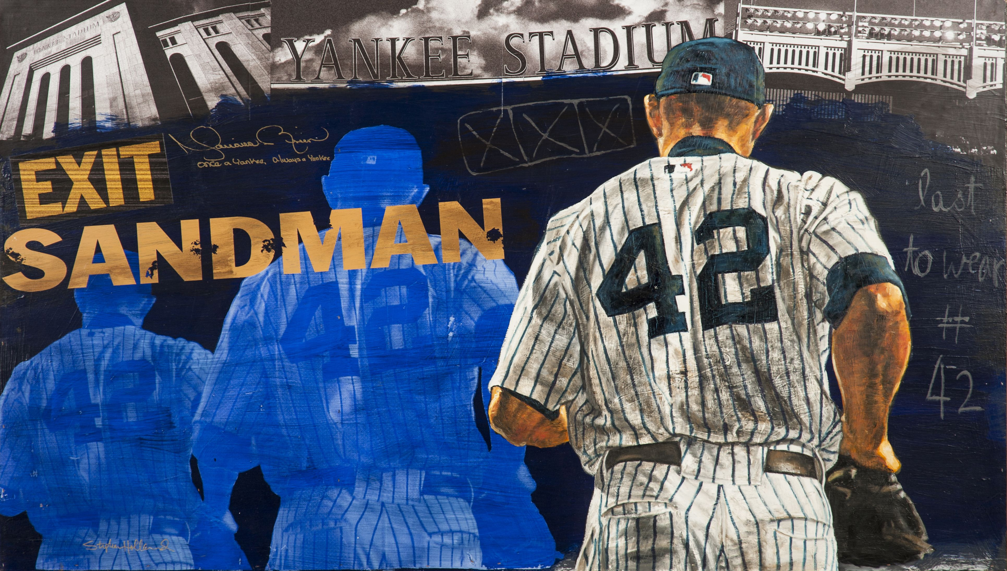 Auction Prices Realized Mariano Rivera Very Large Signed Stephen Holland Original Painting 8 887 50 Art Sportsart Marianoriv Sports Sandman Editions Mr