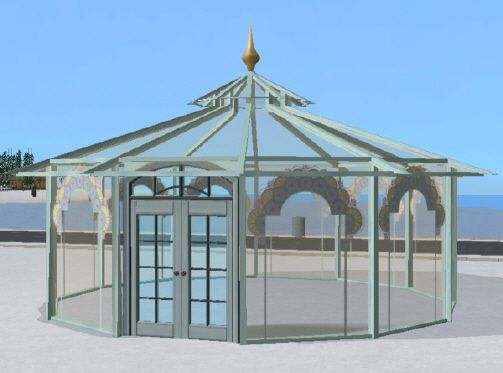 glass house glas pavillon sims 2 garden plants outdoor pinterest pavillon und glas. Black Bedroom Furniture Sets. Home Design Ideas