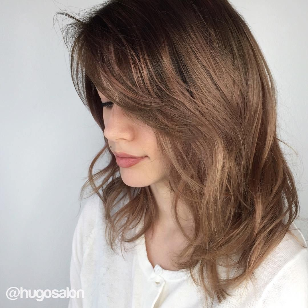 70 Brightest Medium Layered Haircuts to Light