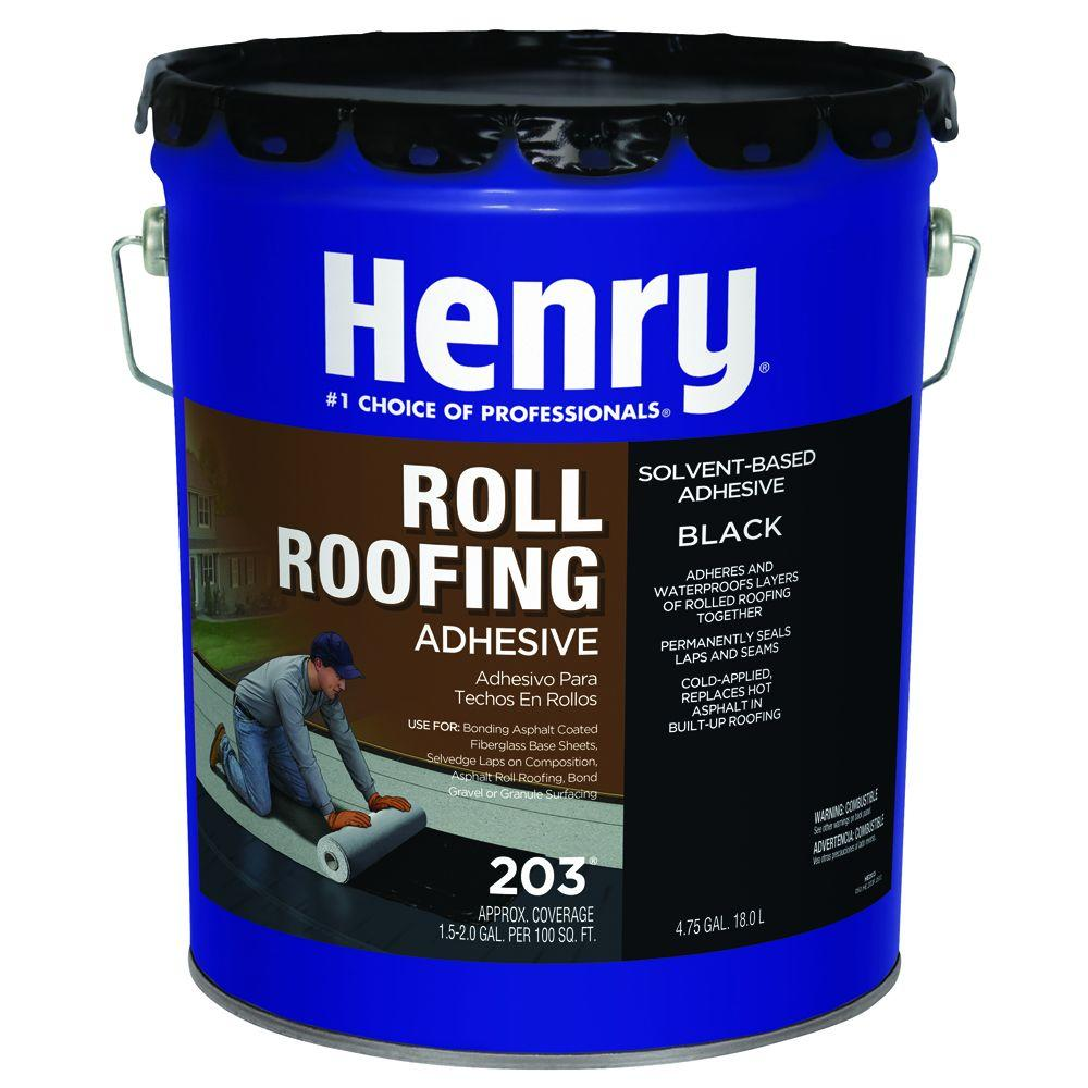 Henry 4 75 Gal 203 Cold Applied Roof Adhesive He203571 The Home Depot Roof Coating Roll Roofing Roof Sealer