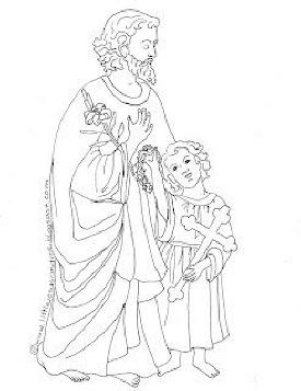 st joseph coloring page i love how jesus is a little boy instead of just an infant