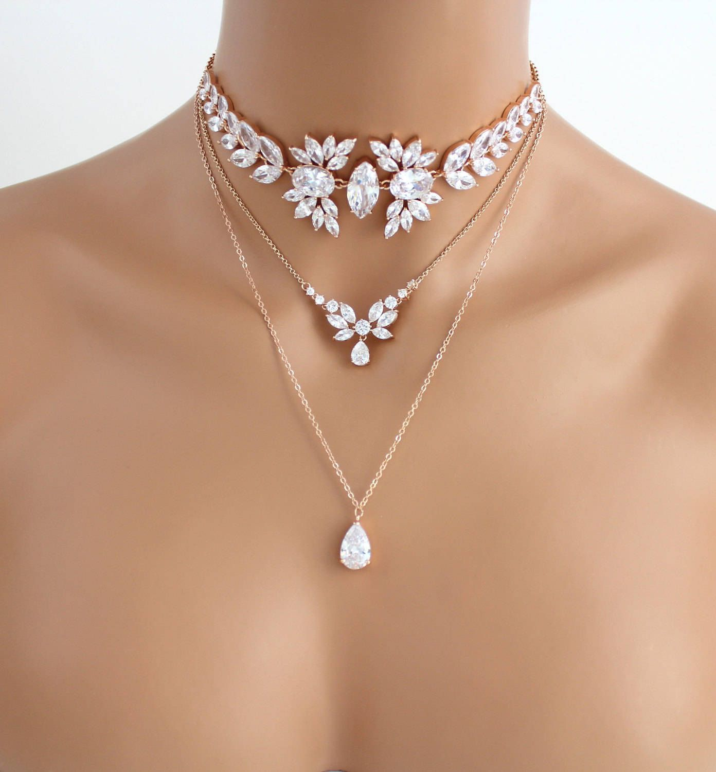 Rose Gold layered necklace 2877176a0