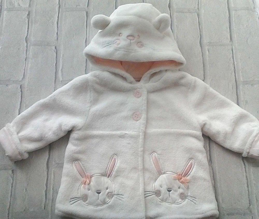 99143f87d Baby Girls Fleece Pram Coat with Cotton Lining 3-6 months