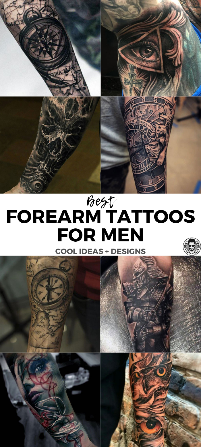 Best Forearm Tattoos For Men Cool Inner and Outer Forearm Tattoo ...